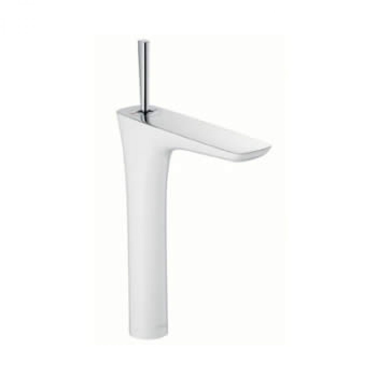 Hansgrohe puravida tall basin mixer with waste uk bathrooms for Hansgrohe puravida