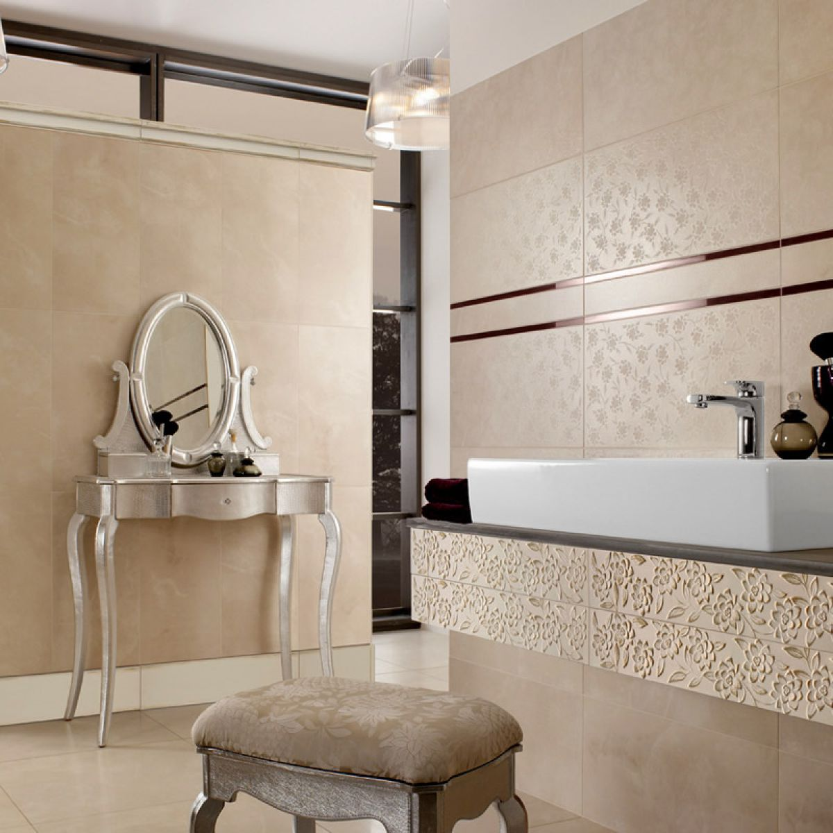 villeroy and boch bathroom tiles villeroy amp boch ivoire decor tile 2394 30 x 60cm uk 24494