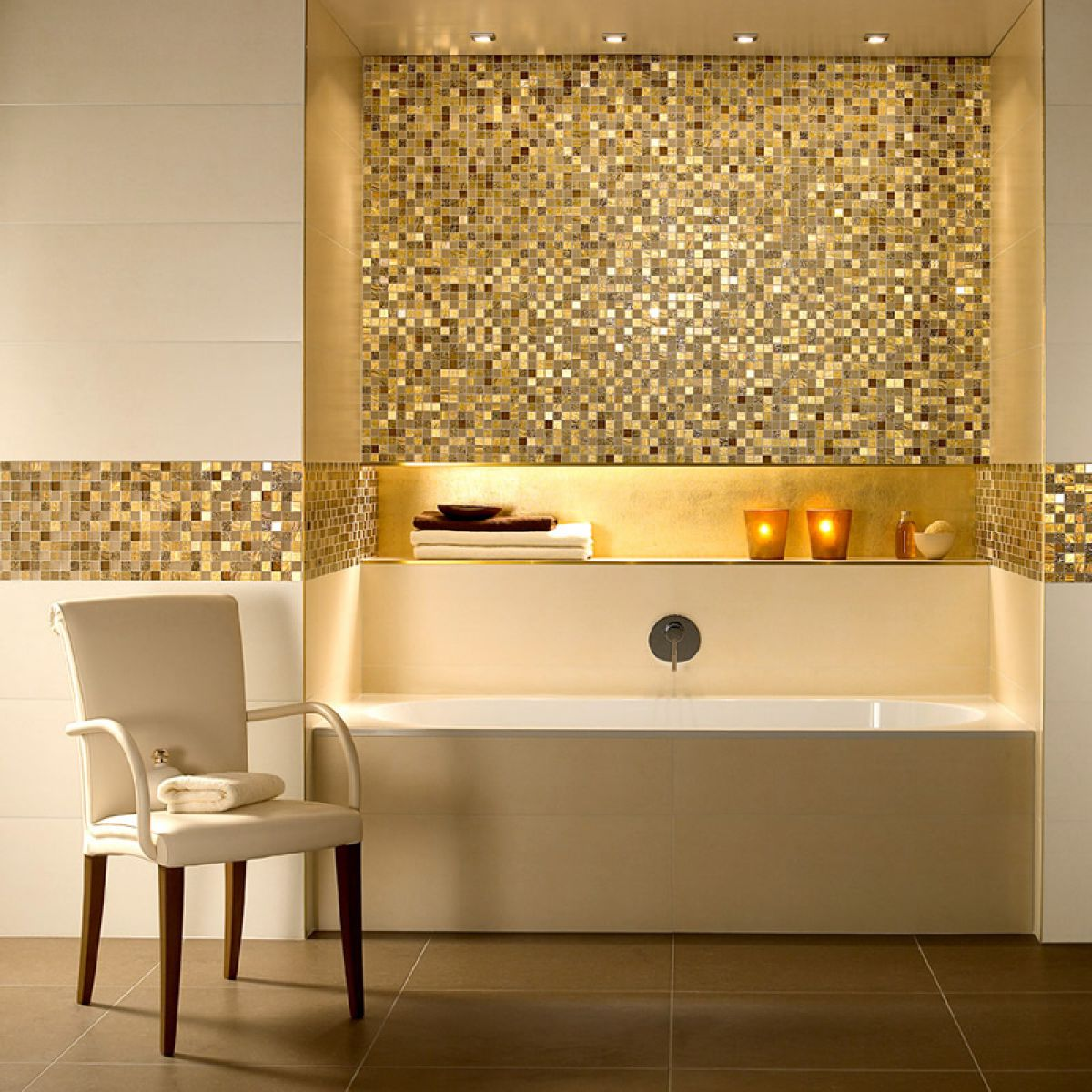 V b moonlight mosaic tiles 1042 30 x 30cm uk bathrooms for Carrelage salle de bain moderne mosaique
