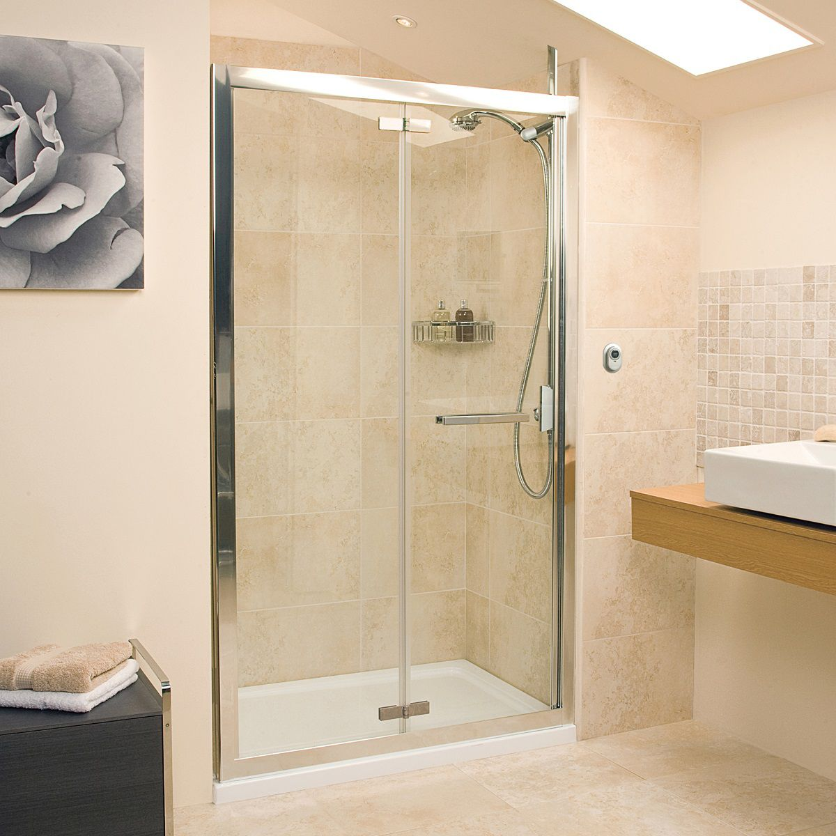 Roman Embrace Bi Fold Shower Door