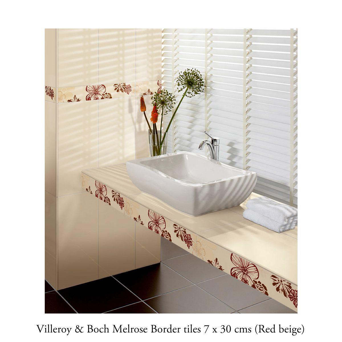 Villeroy Boch Melrose Border Tile 1896 7 X 30cm Uk Bathrooms