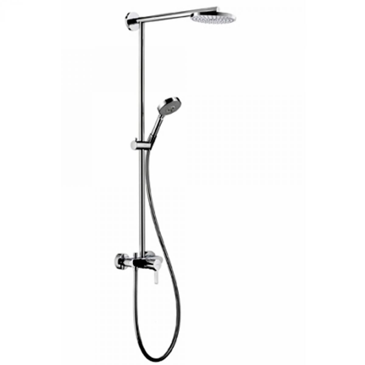hansgrohe raindance showerpipe ecosmart s 180 air single lever 460mm shower arm uk bathrooms. Black Bedroom Furniture Sets. Home Design Ideas