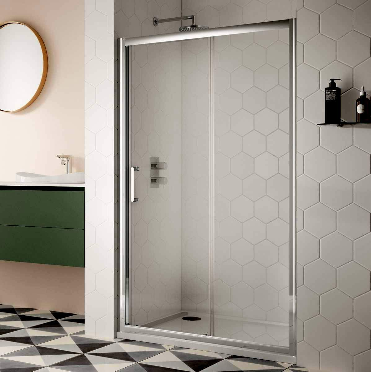 Incredible Sommer 8 Contemporary Sliding Shower Door Beutiful Home Inspiration Semekurdistantinfo