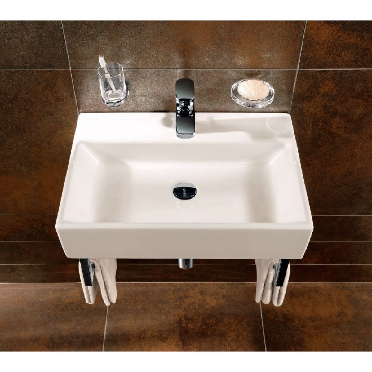 villeroy boch 500mm memento washbasin uk bathrooms. Black Bedroom Furniture Sets. Home Design Ideas