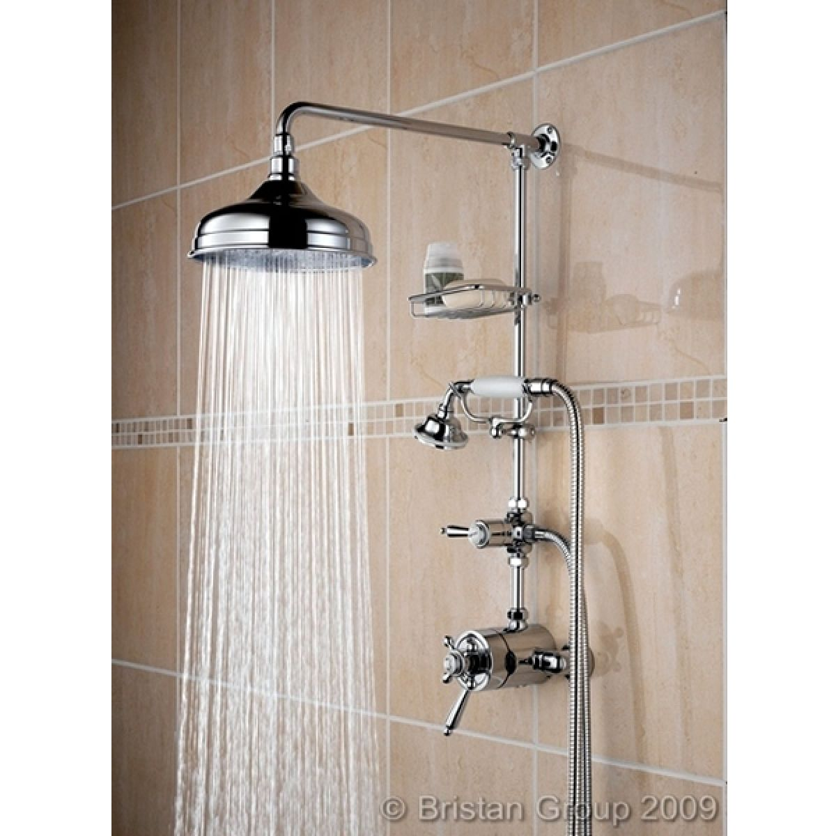 Bristan Trinity Traditional Shower Mixer With Fixed Head