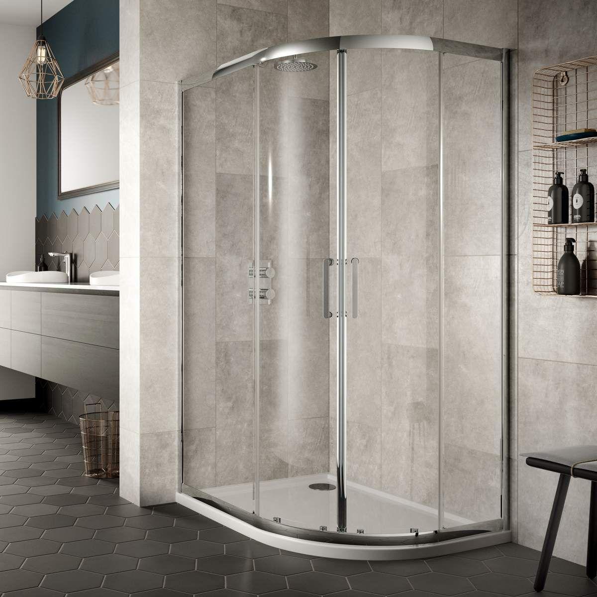Sommer 8 Double Door Offset Quadrant Shower Enclosure : UK Bathrooms