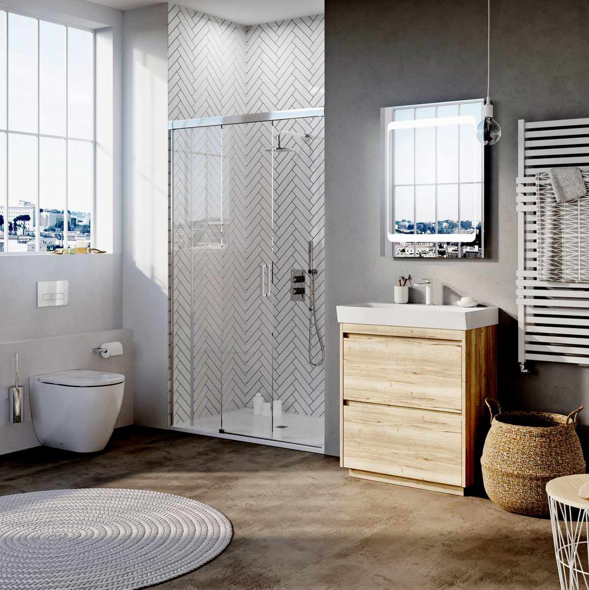 Crosswater Premium Ensuite Bathroom Package : UK Bathrooms