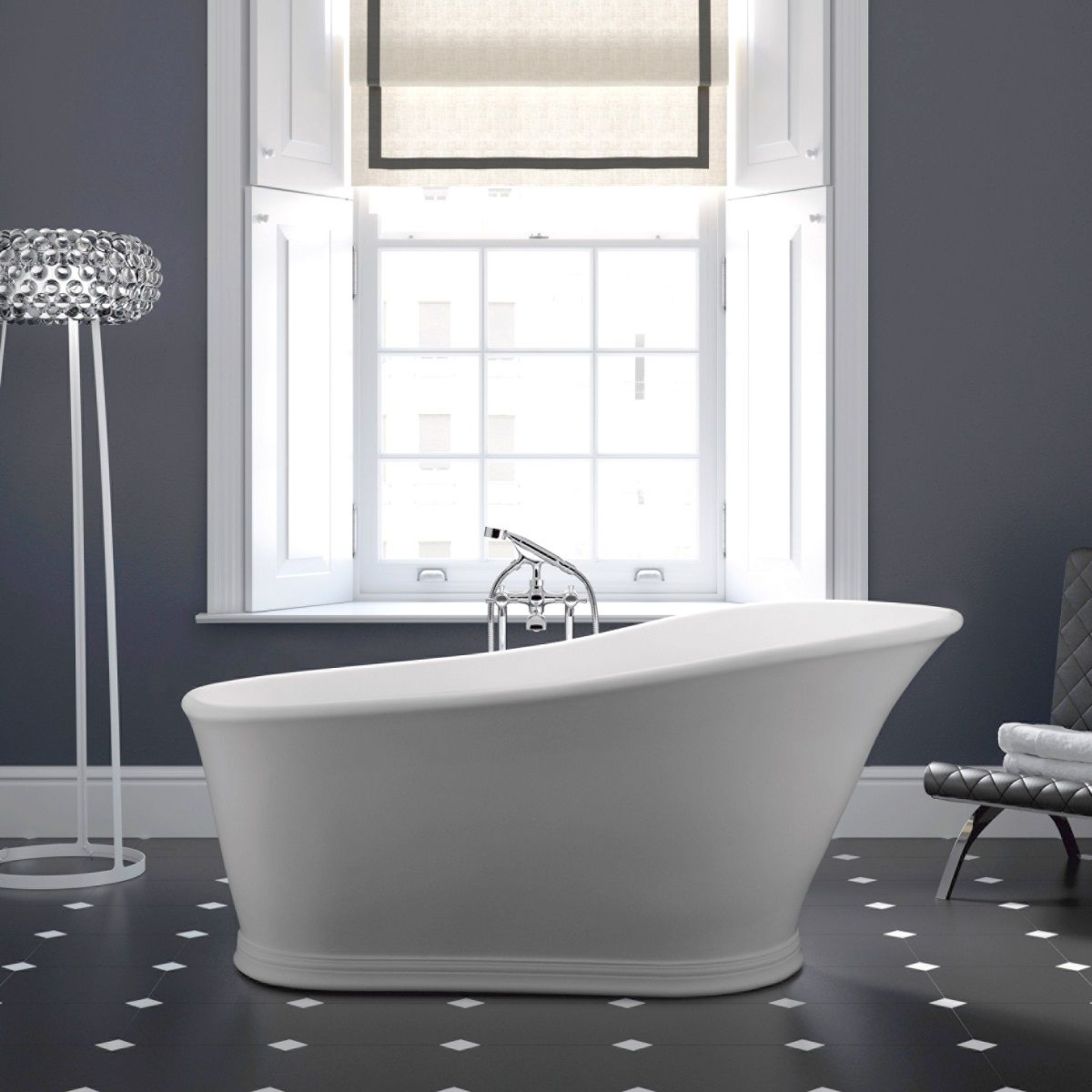 Imperial Hampton Freestanding Slipper Bath : UK Bathrooms