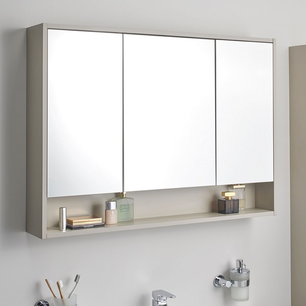 Vitra Integra Large 100cm Mirror Cabinet Uk Bathrooms