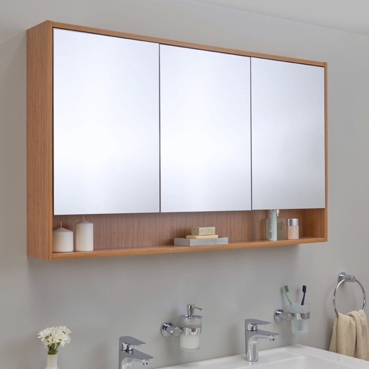 Vitra Integra Extra Large 120cm Mirror Cabinet Uk Bathrooms