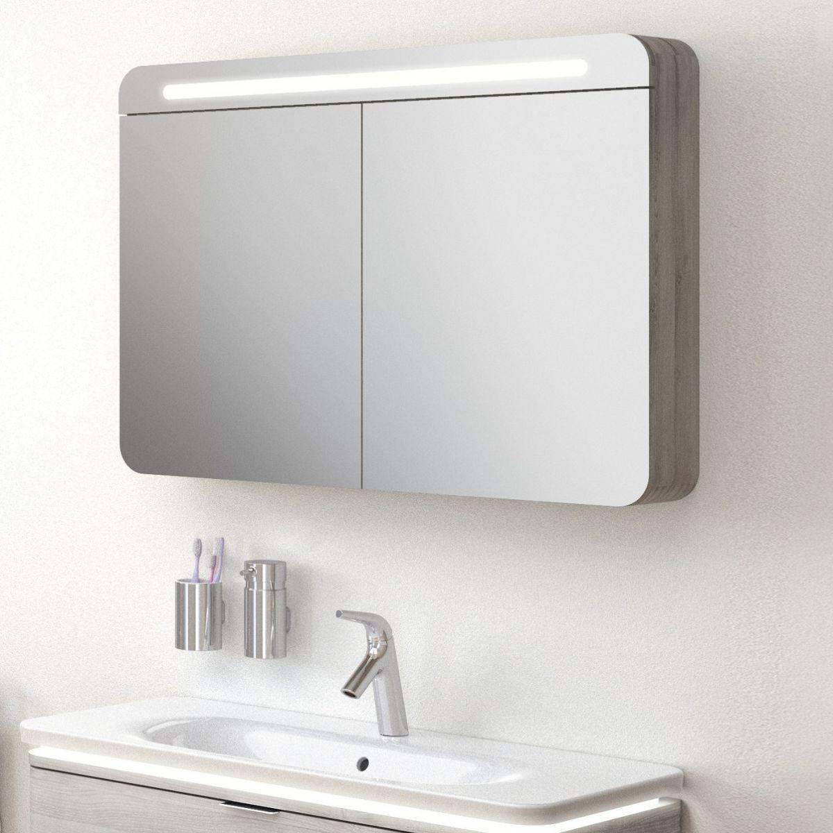 Vitra Nest 2 Door 100cm Mirror Cabinet Uk Bathrooms