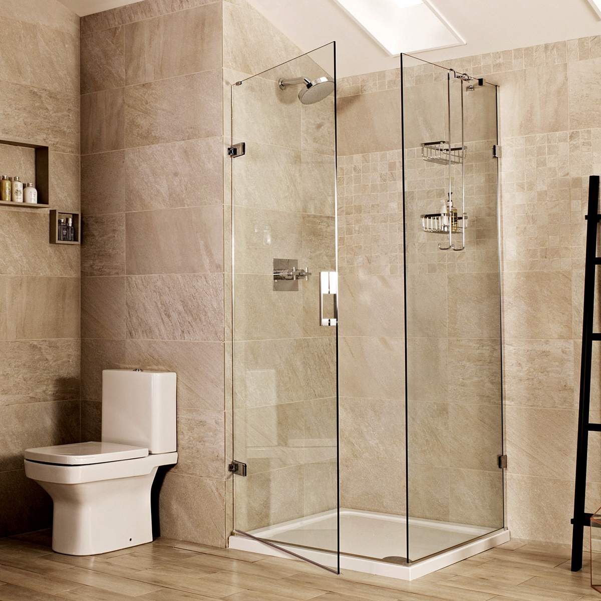 picture of a hinged shower door