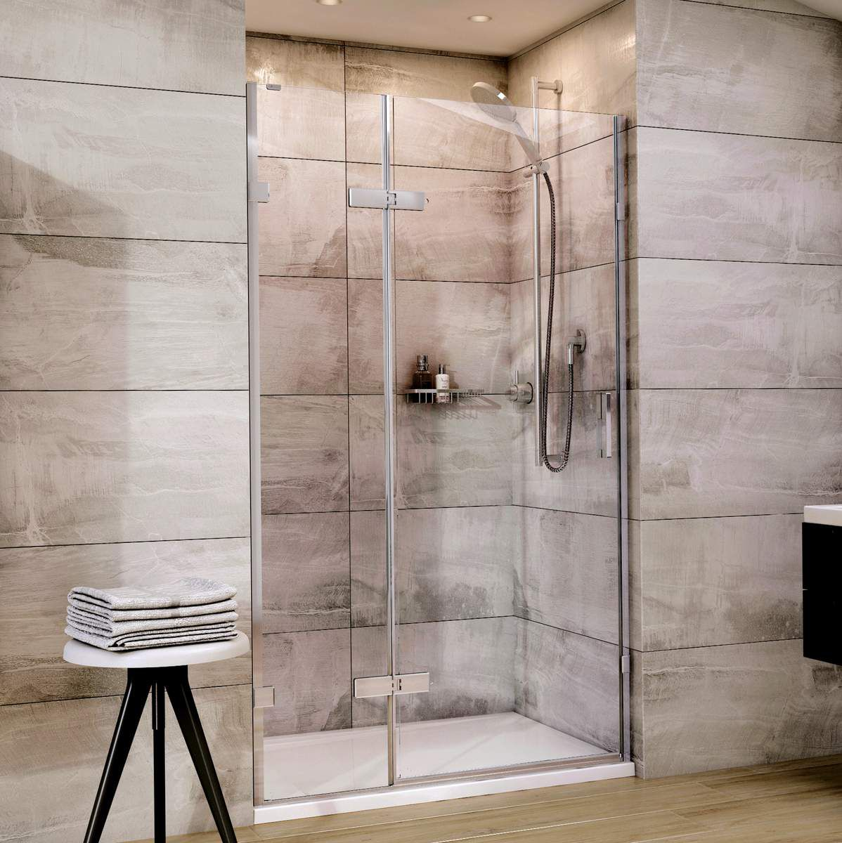 Roman Showers Liberty Hinged Door With Hinged In Line