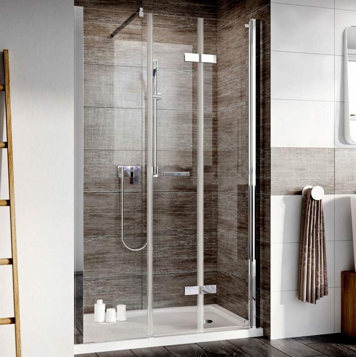 Roman Innov8 Inward Opening Bi Fold Shower Door With In Line Panel