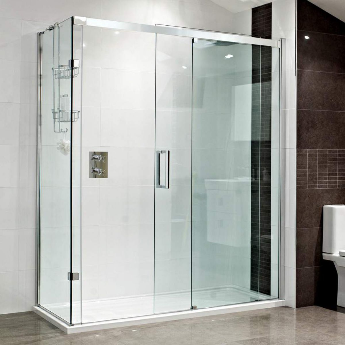 Roman Decem Sliding Door Corner Shower Enclosure Uk