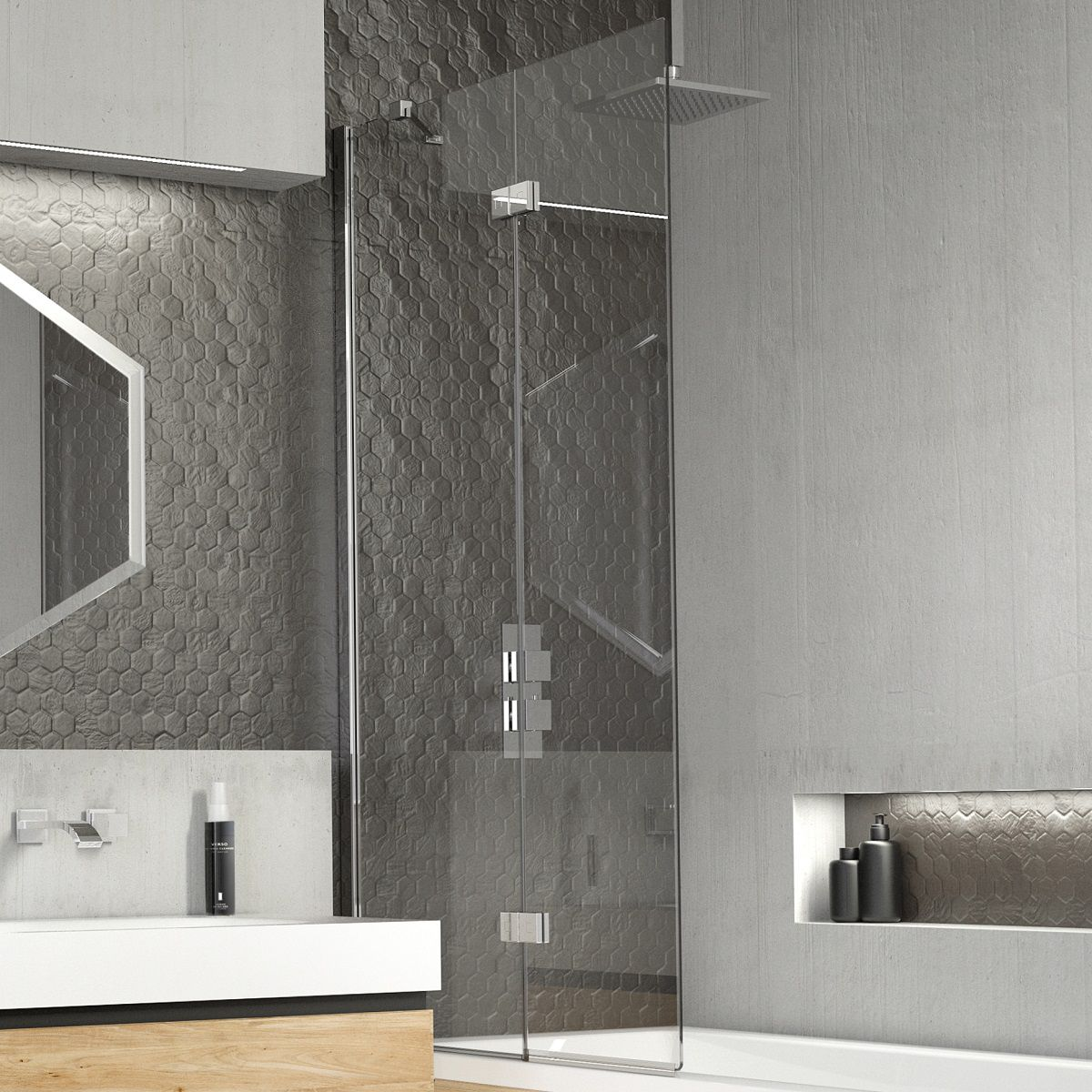 Kudos Inspire 2 Panel in Fold Bath Screen
