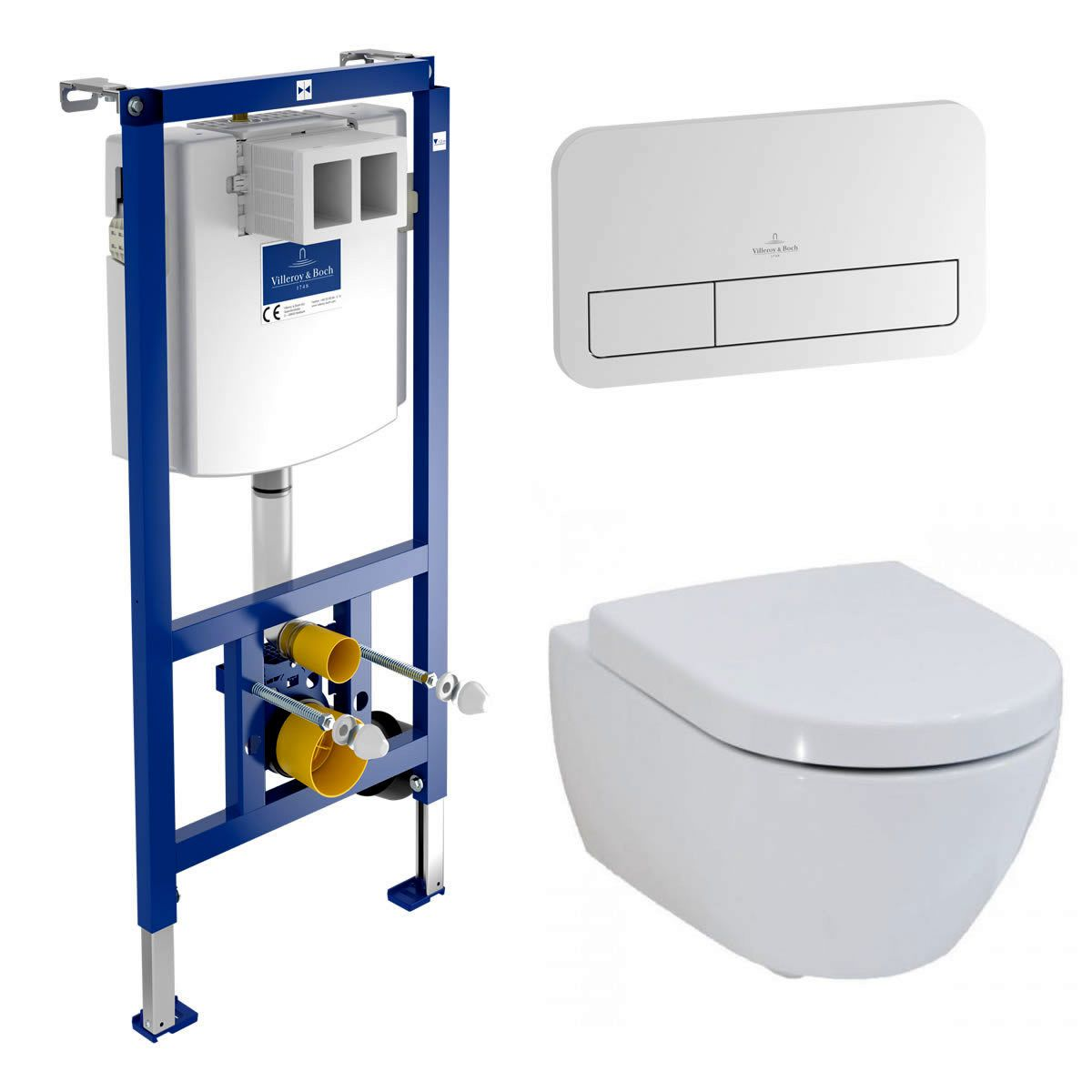 Villeroy and Boch Subway 2.0 Rimless Wall Hung Toilet and ViConnect Frame Pack