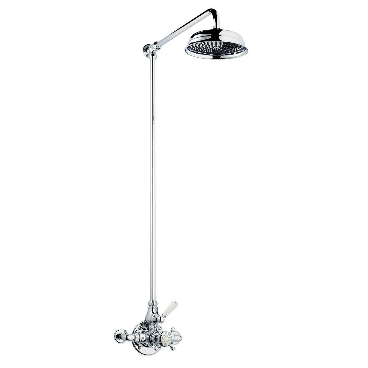 Picture of: Swadling Invincible Single Exposed Shower Mixer With Rigid Riser And Deluge Head Uk Bathrooms