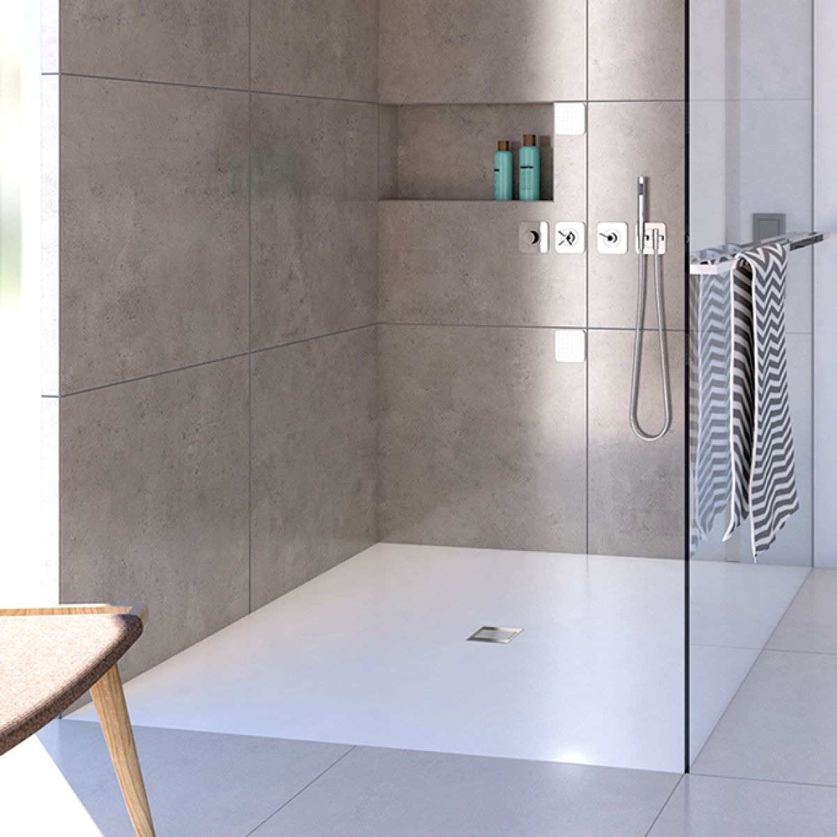 picture of various wetroom shower bases