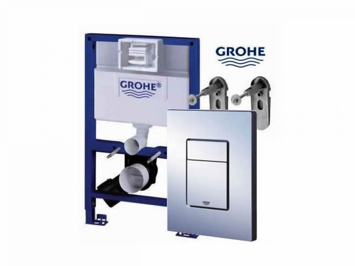 grohe rapid sl frame pack with skate cosmo plate uk bathrooms. Black Bedroom Furniture Sets. Home Design Ideas