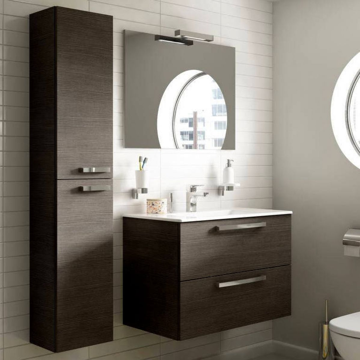 image example of wall hung bathroom furniture