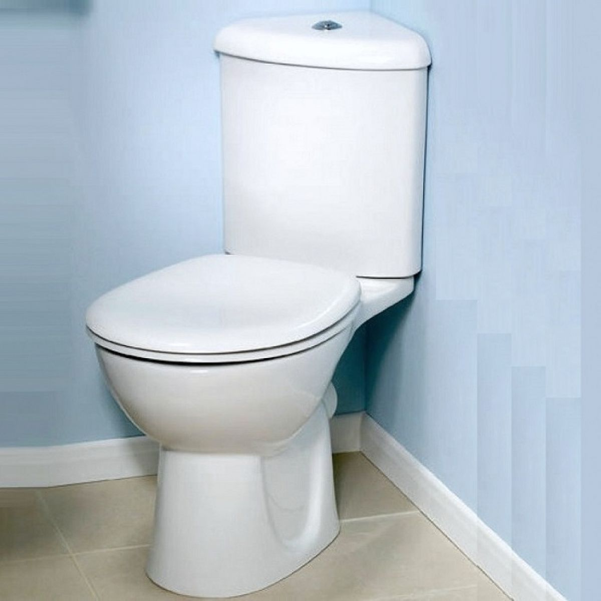 image example of a small cloakroom toilet