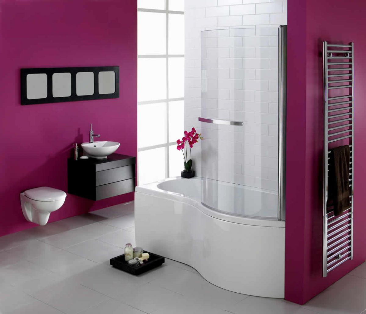 image example of a shower bath