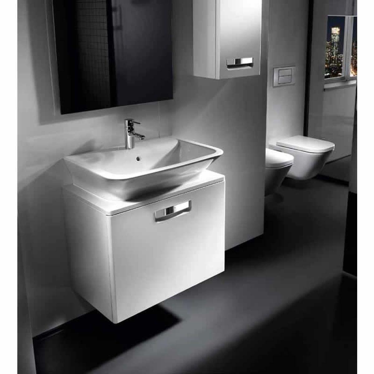 Roca the gap basin unit white uk bathrooms for Roca bathroom furniture