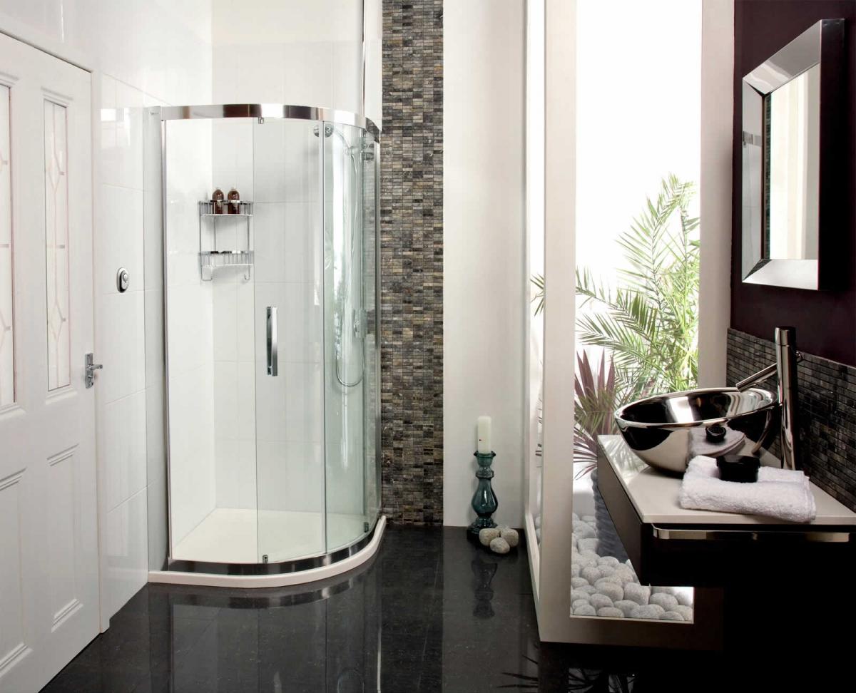 Roman Embrace Single Door Quadrant Shower Enclosure : UK Bathrooms