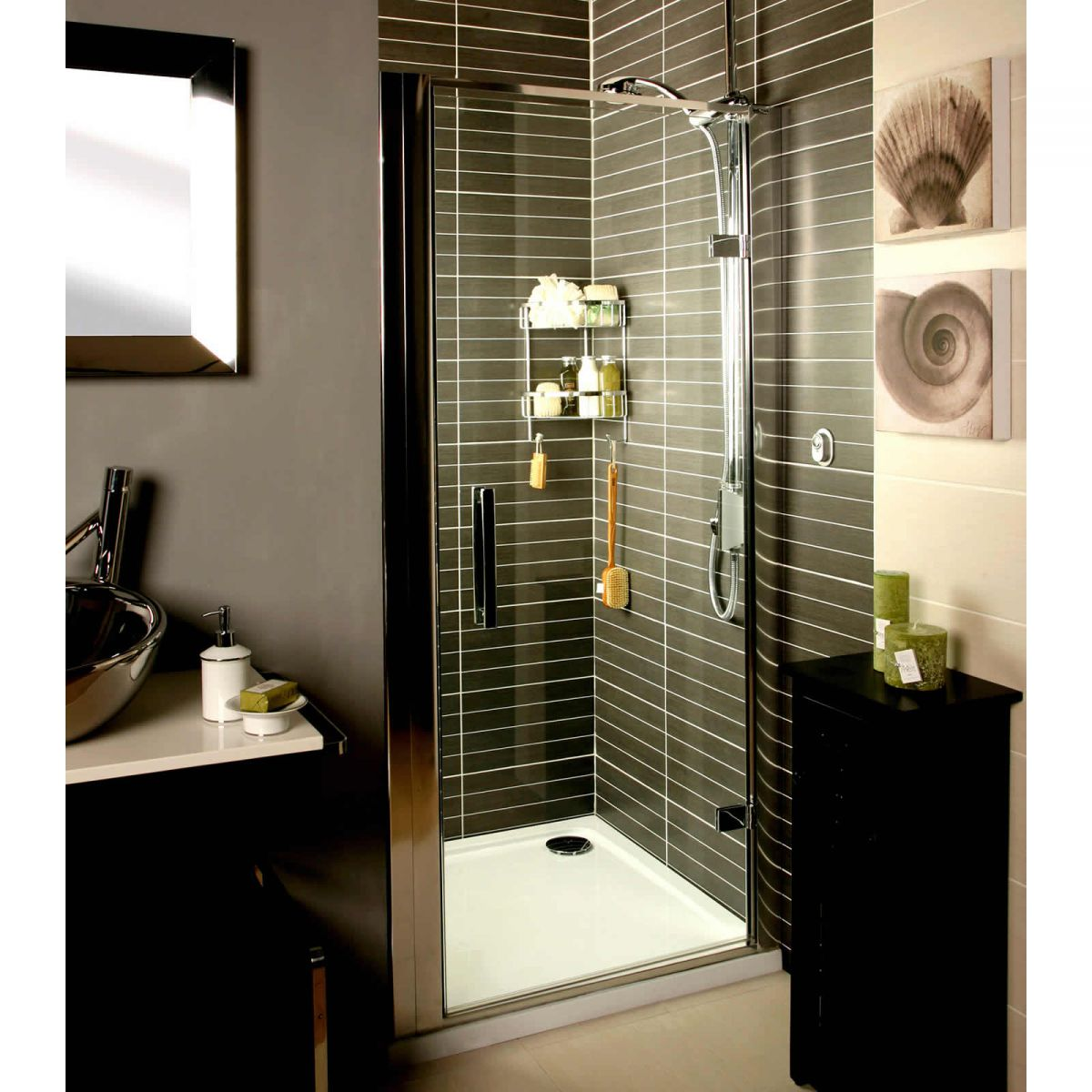 Roman Embrace Hinged Door Shower Enclosure : UK Bathrooms