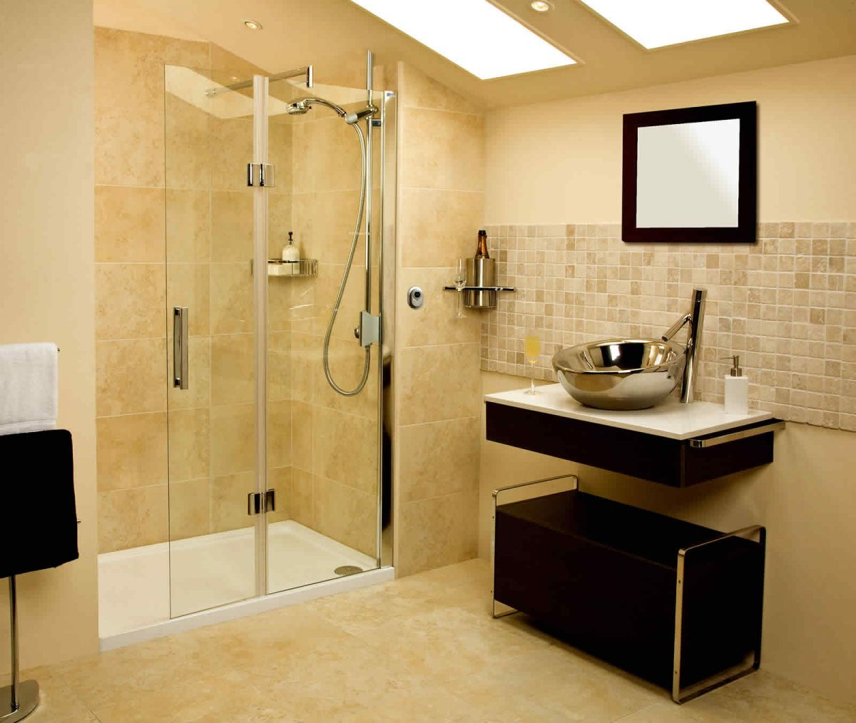 Roman Embrace Walk-In Shower Panel With Deflector : UK