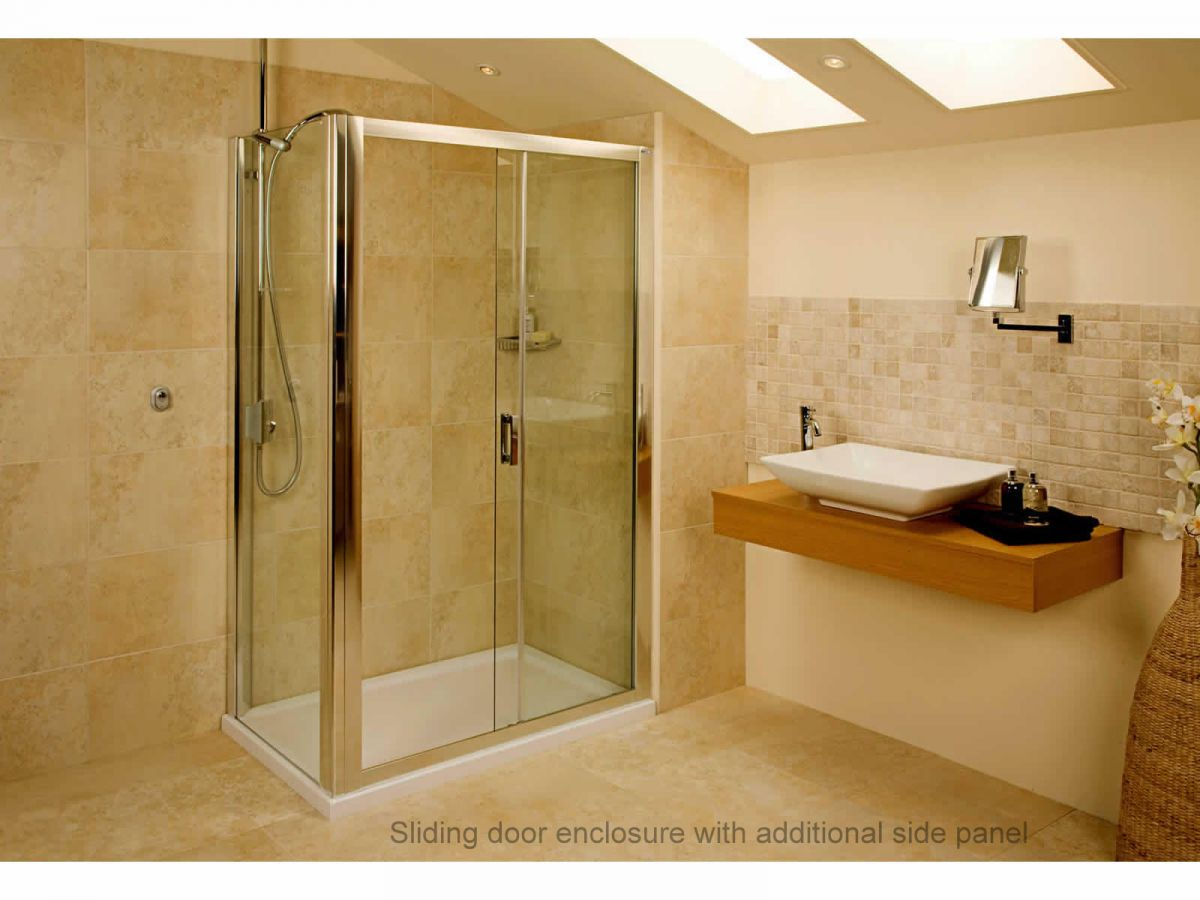L Shaped Shower Bath Suite Roman Embrace Frameless Shower Side Panel Uk Bathrooms