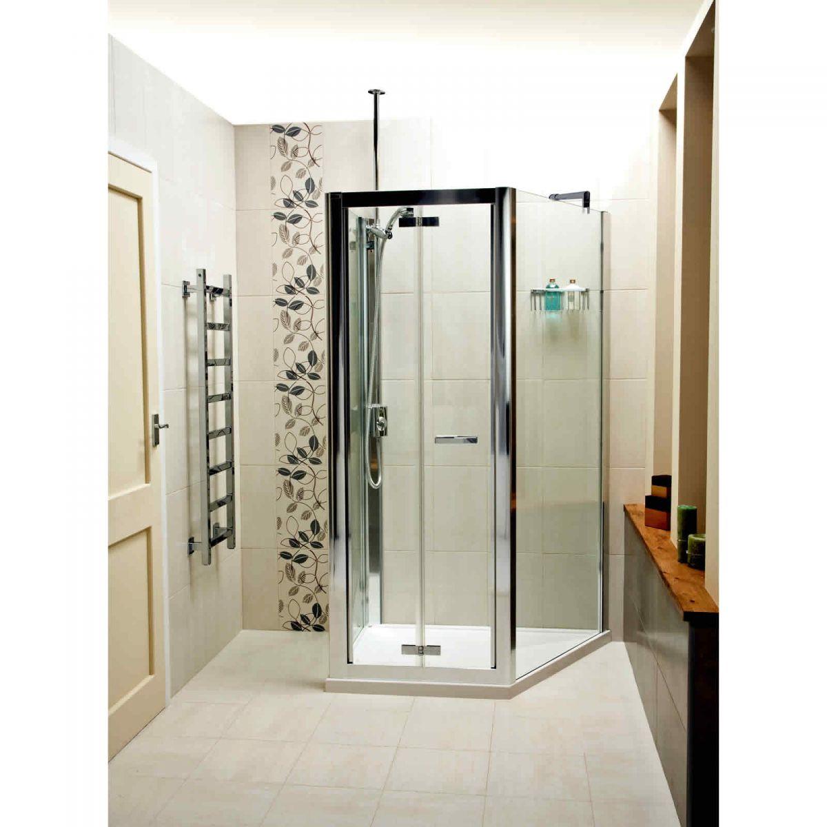 Roman Embrace Trapezium Space Saving Shower Enclosure : UK Bathrooms