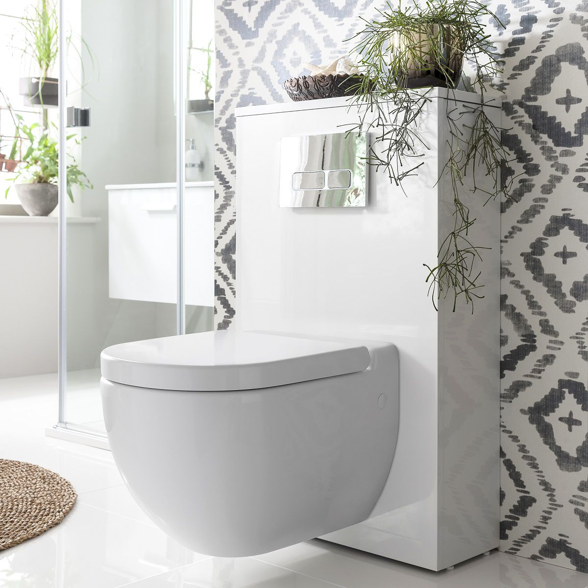 image example of a modern contemporary toilet