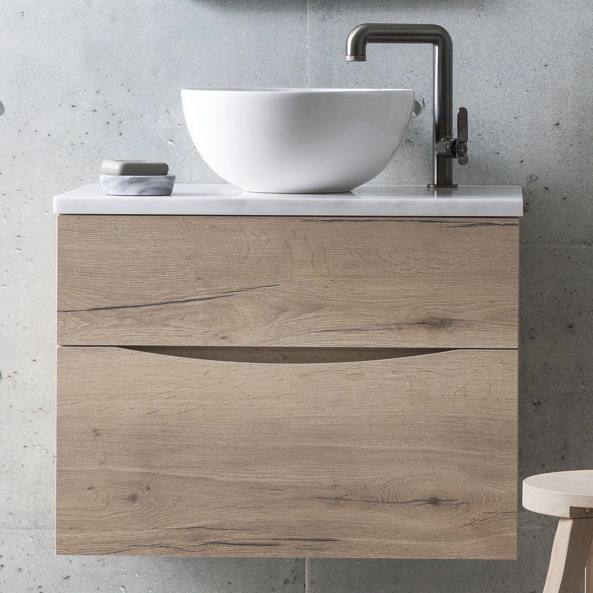 Crosswater Glide Ii 50cm Vanity Unit With Marble Worktop Gl5000tmc Uk Bathrooms
