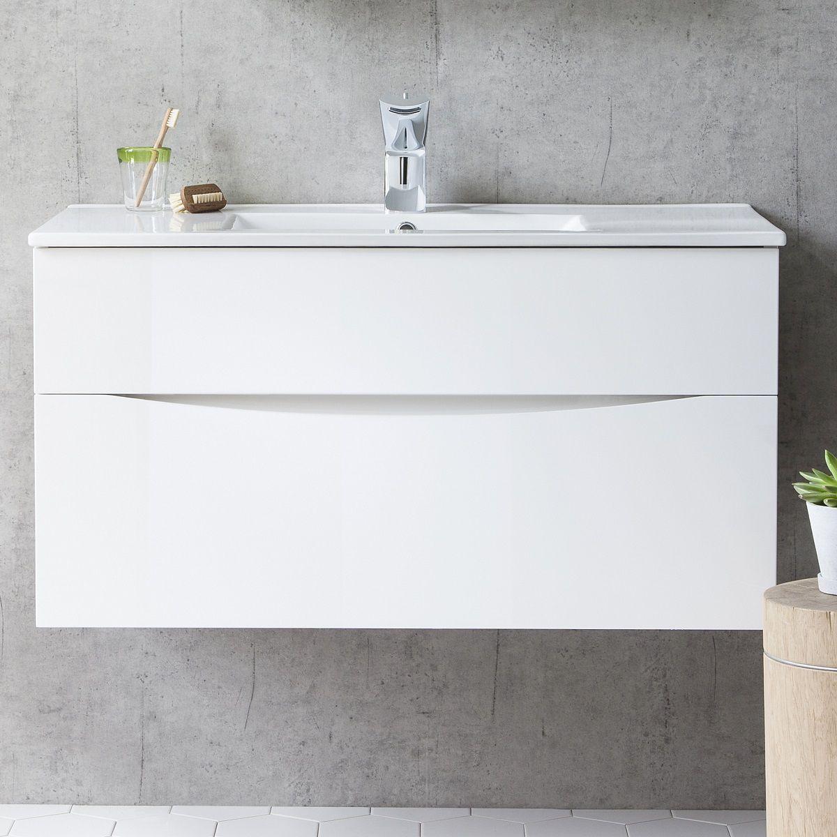 Crosswater Glide Ii Vanity Unit With Thin Basin Uk Bathrooms