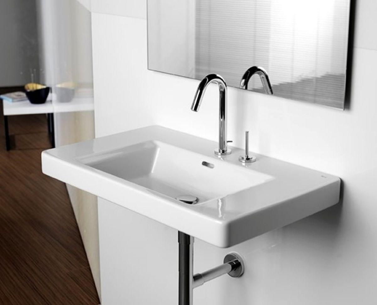 Bathroom Pedestal Sinks Ideas Roca Khroma Wall Hung Basin Uk Bathrooms