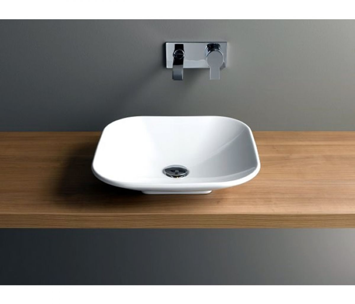 Vitra Options Piu Due Square Countertop Basin : UK Bathrooms