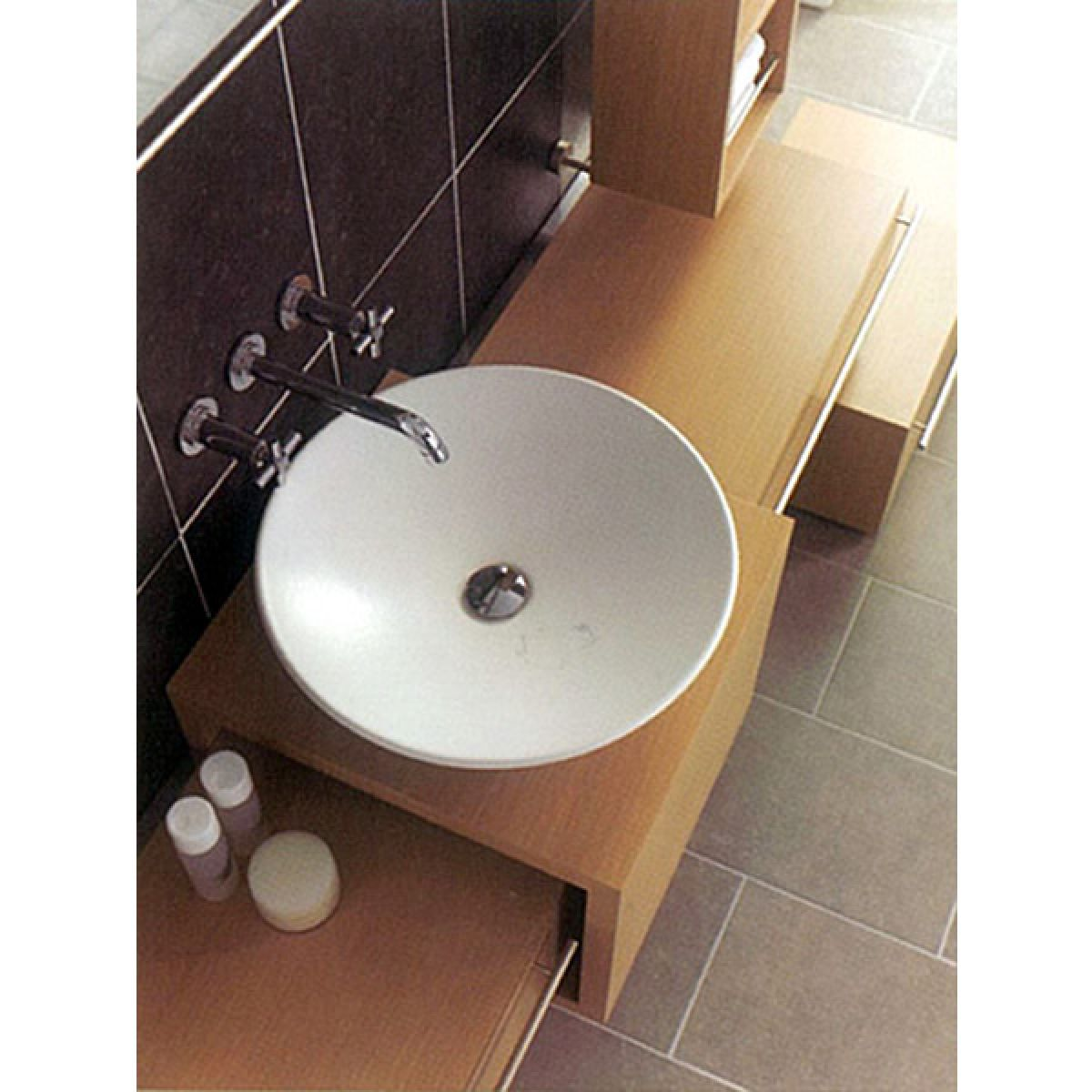 Vitra Options Piu Due Circular Countertop Basin : UK Bathrooms