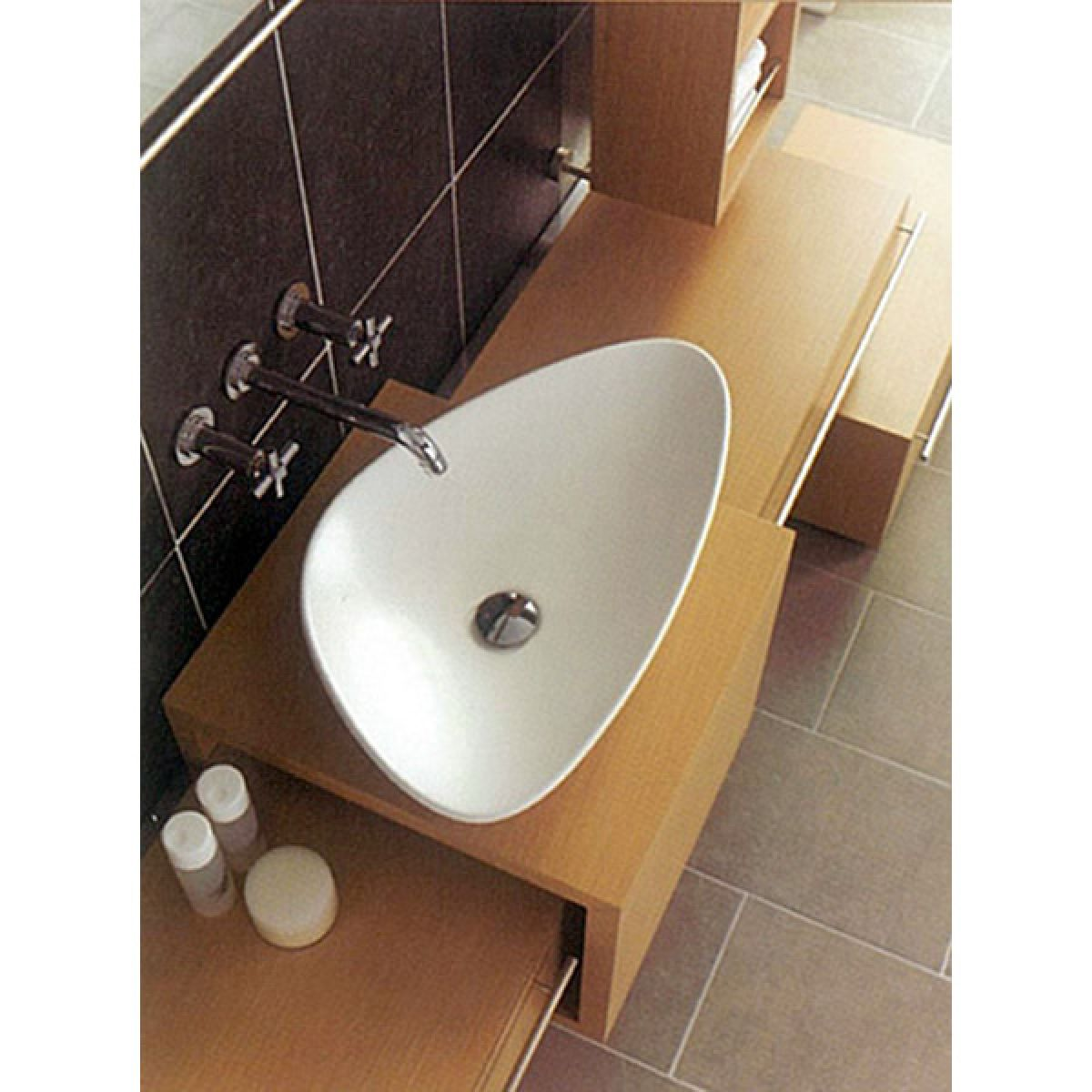 Vitra Options Piu Due Triangular Countertop Basin : UK Bathrooms