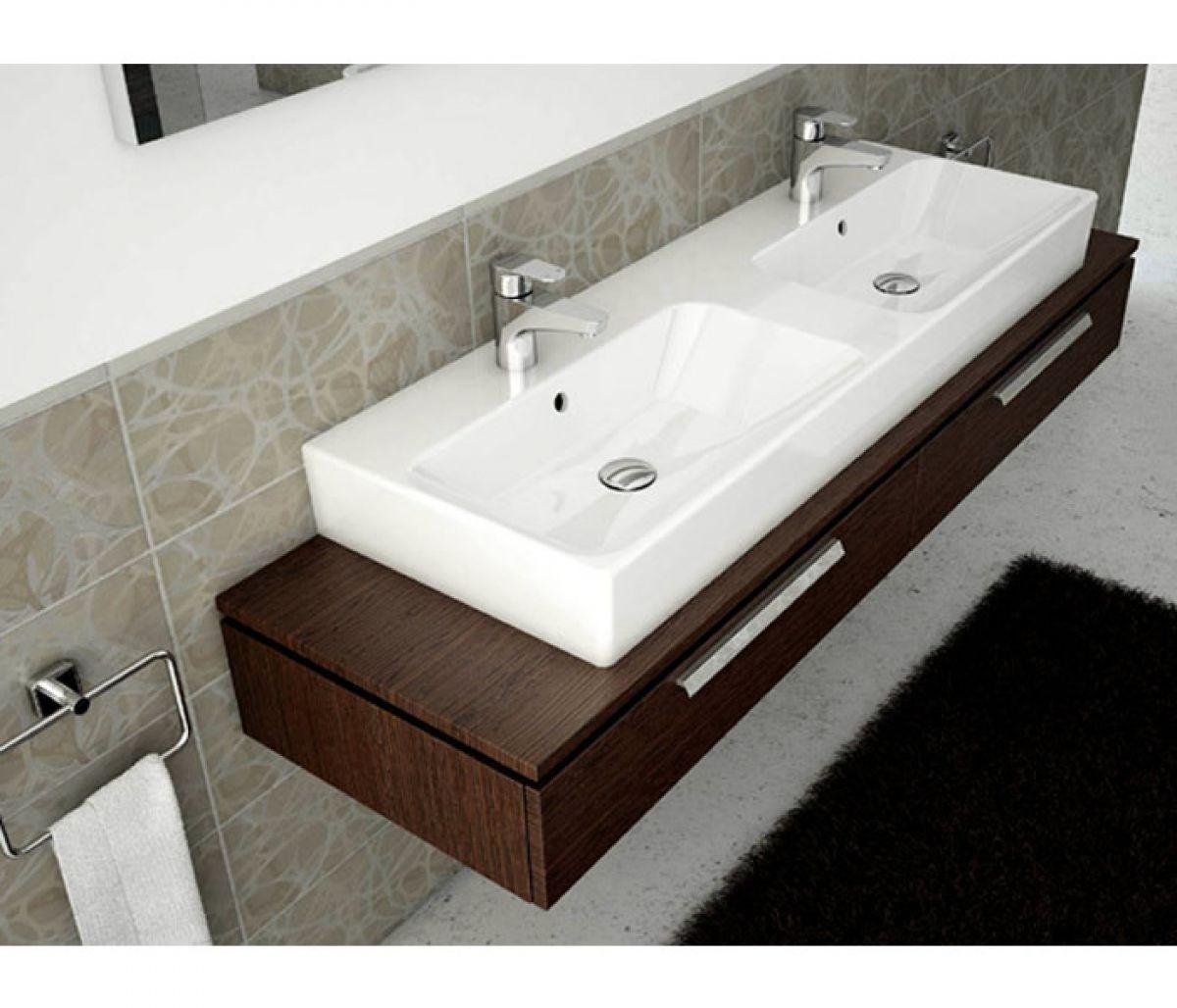 Double Bathroom Basin : Vitra Options Nuo Double Bathroom Basin : UK Bathrooms