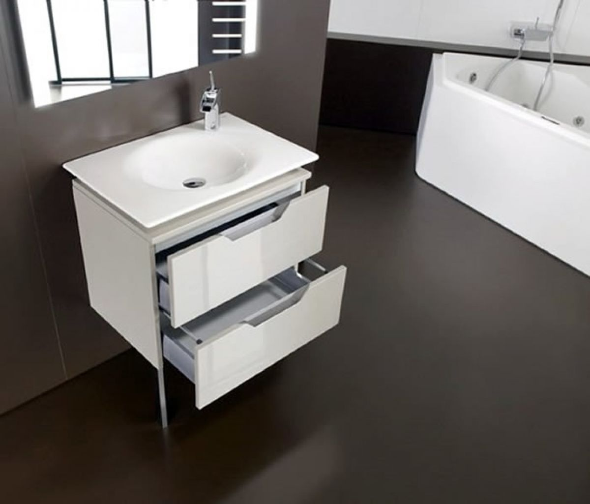 roca kalahari 2 drawer single basin unit uk bathrooms