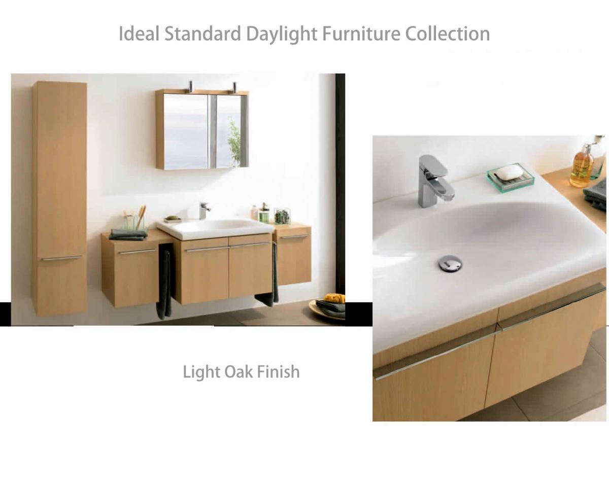 ideal standard daylight 1300mm wall hung vanity unit uk. Black Bedroom Furniture Sets. Home Design Ideas