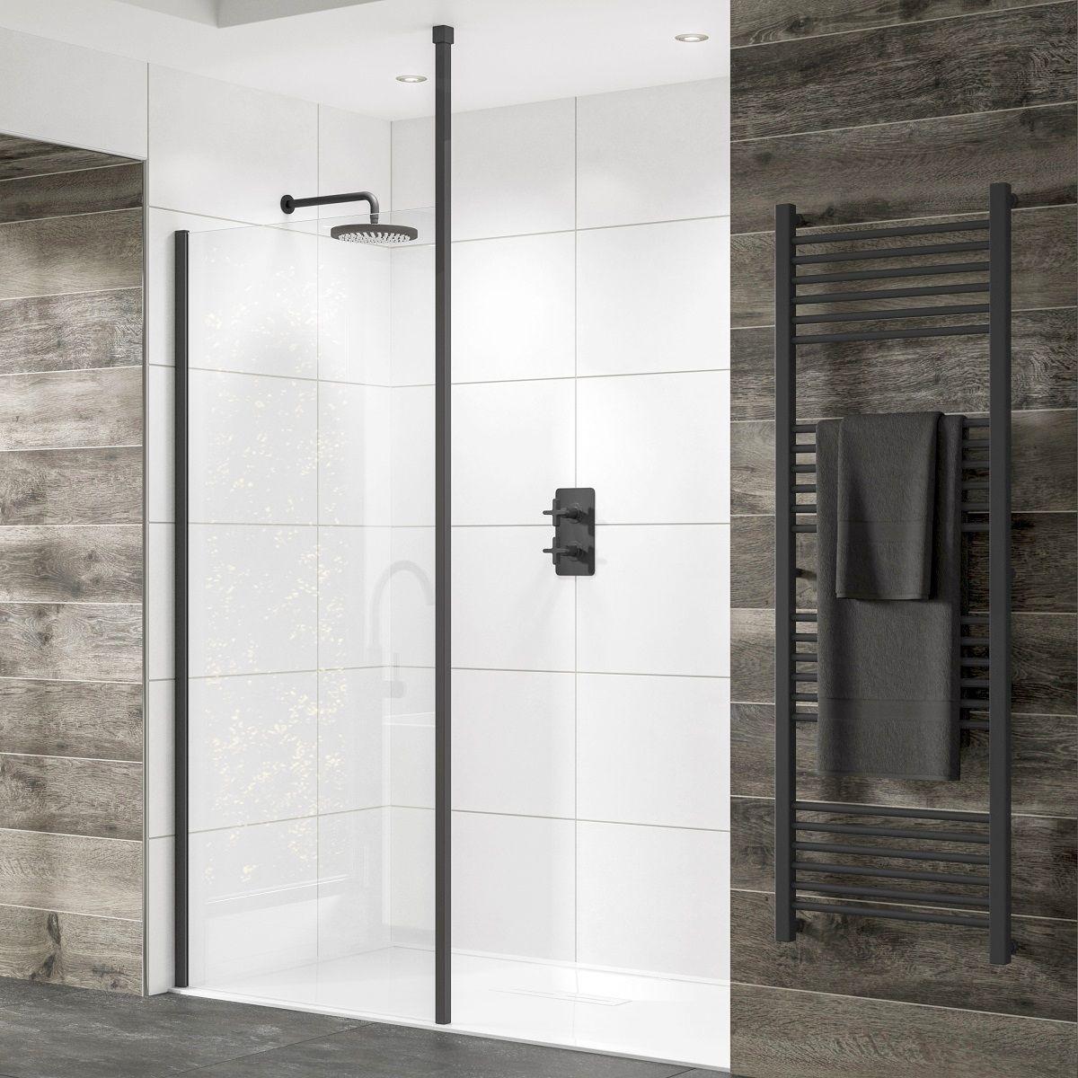 Sommer Black Shower Panel