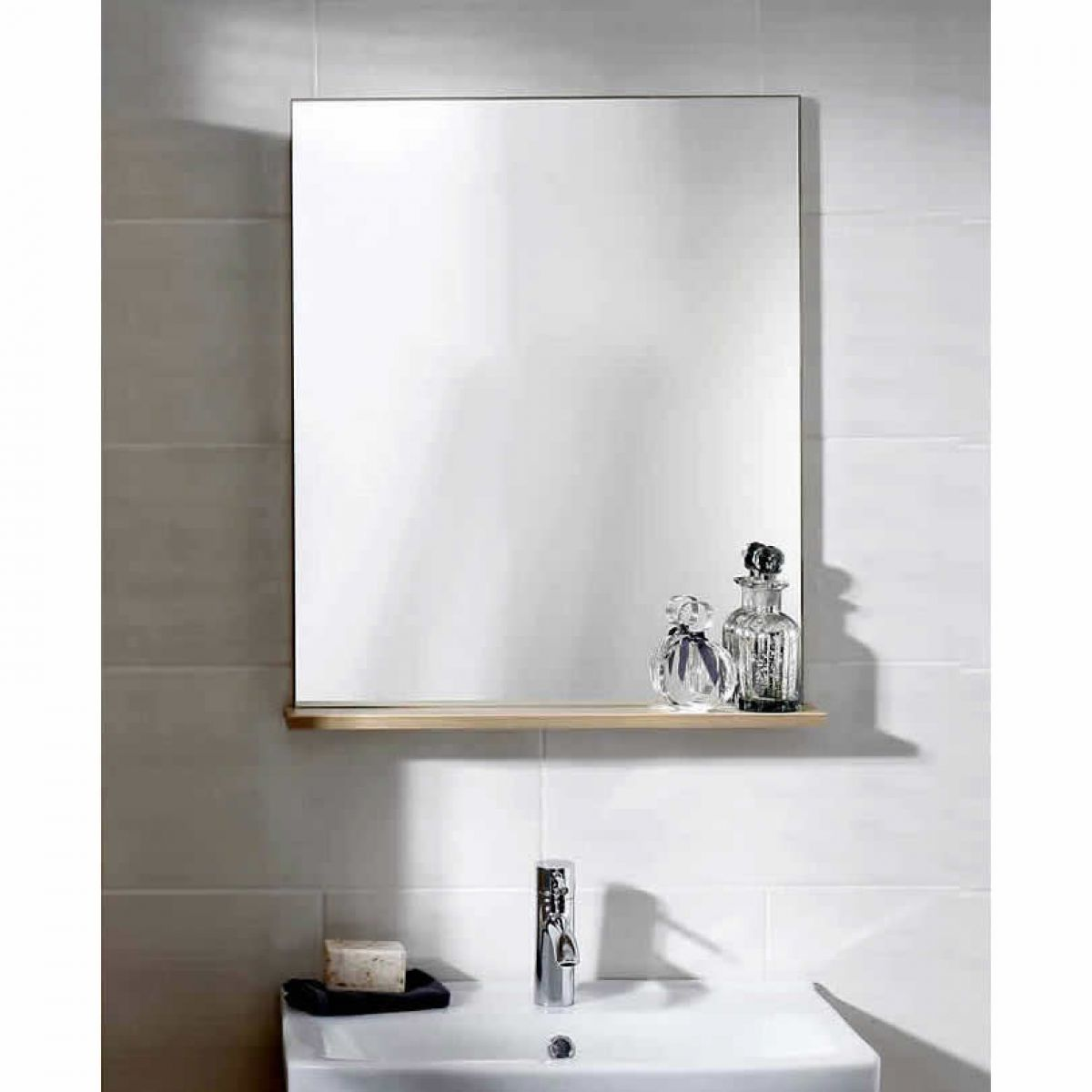 bathroom shelf with mirror noble primo mirror with shelf uk bathrooms 16387