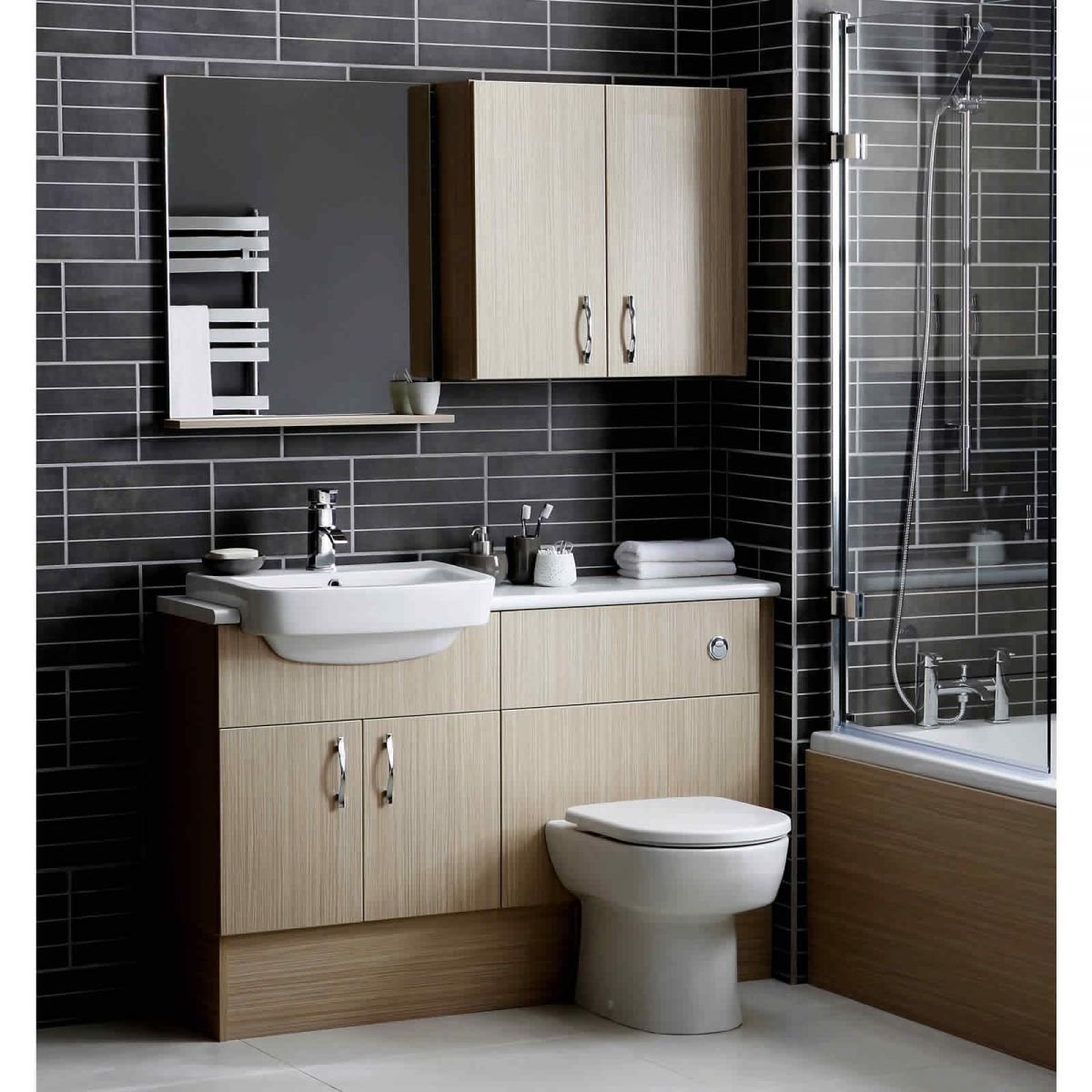 Noble dueto slimline toilet unit uk bathrooms for Bathroom furniture