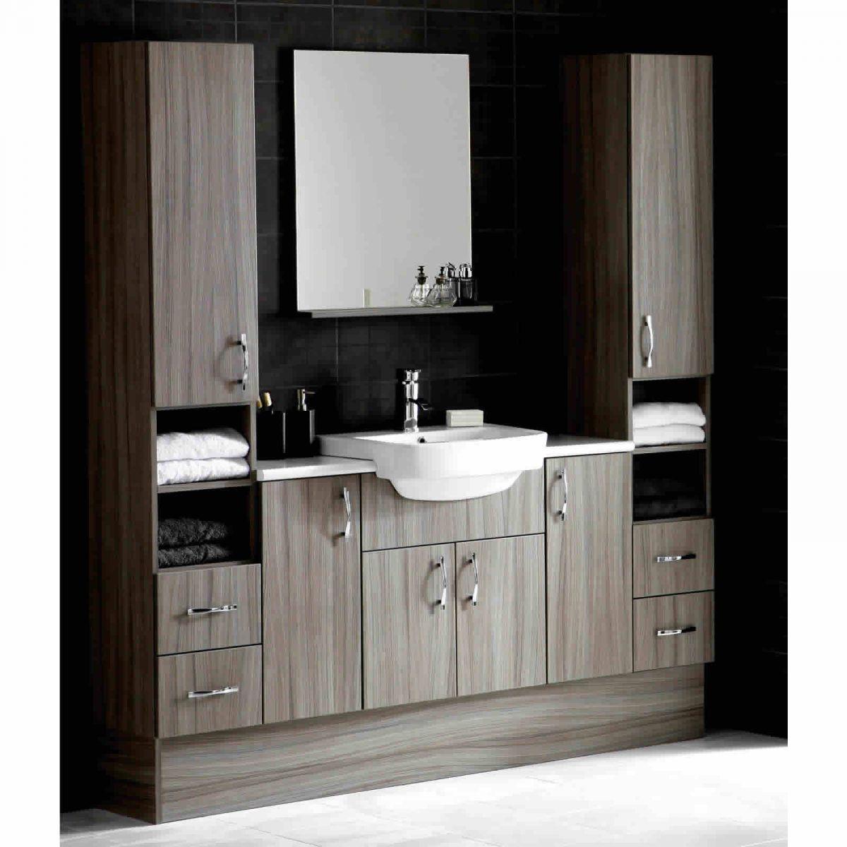 Bathroom units uk - Noble Dueto 2 Drawer Tall Bathroom Unit