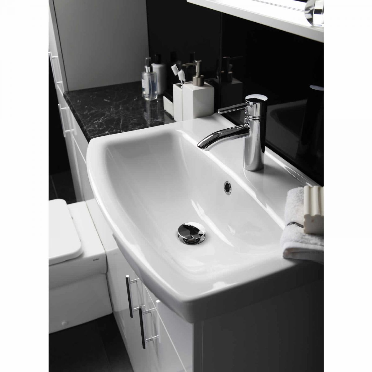 Model Details About White Gloss Slimline Bathroom Furniture Units 1100mm