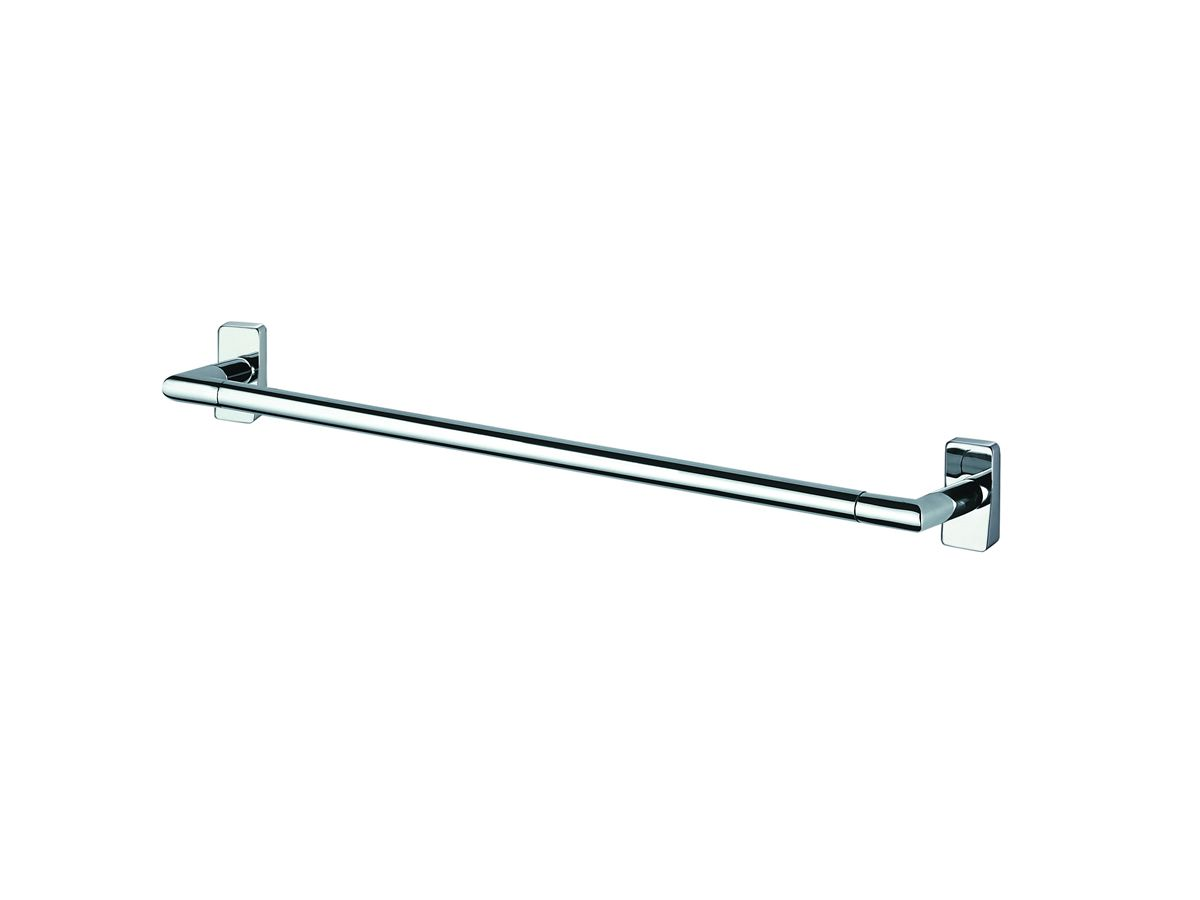 Inda storm chrome towel rail uk bathrooms - Bathroom accessories towel rail ...