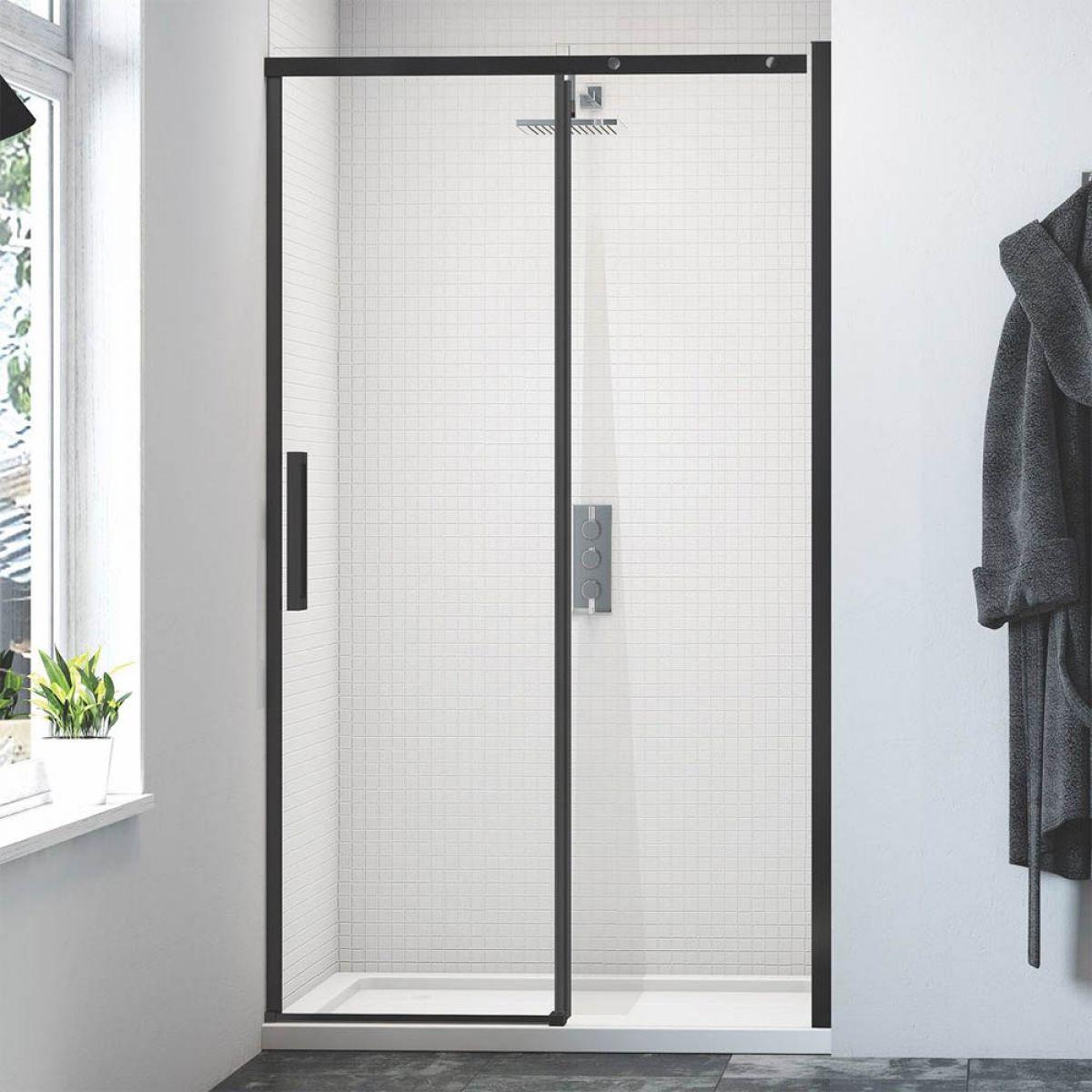 Merlyn Black Sliding Shower Door Uk Bathrooms